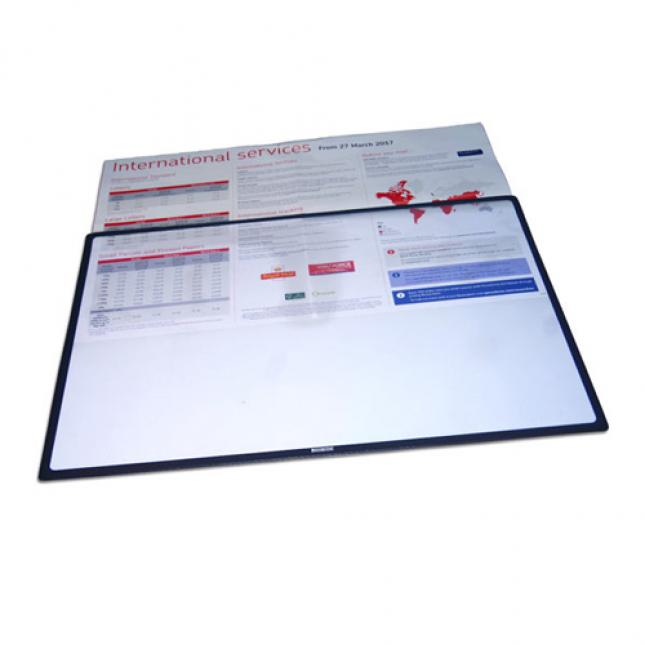 A2 Counter Mat Poster Holder with black boarder