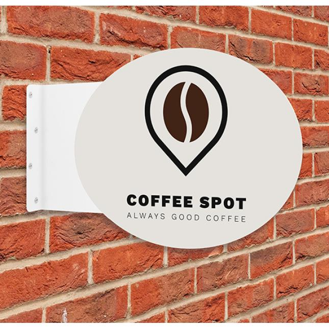 Oval Flange Projecting Sign