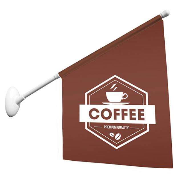 Cafe wall flags