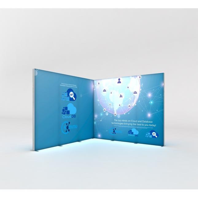 3m x 3m lightbox display stand