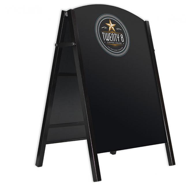 Premium chalk board a-board black