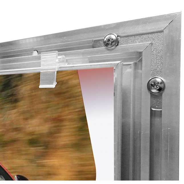 Slimlok poster case clips