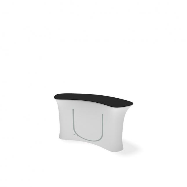Small curved promotional counter rear