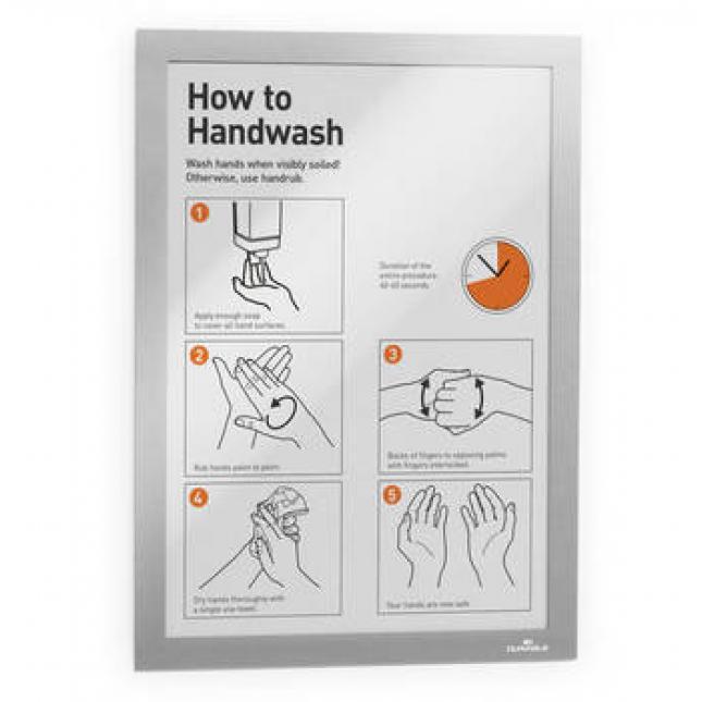 Hand washing poster display