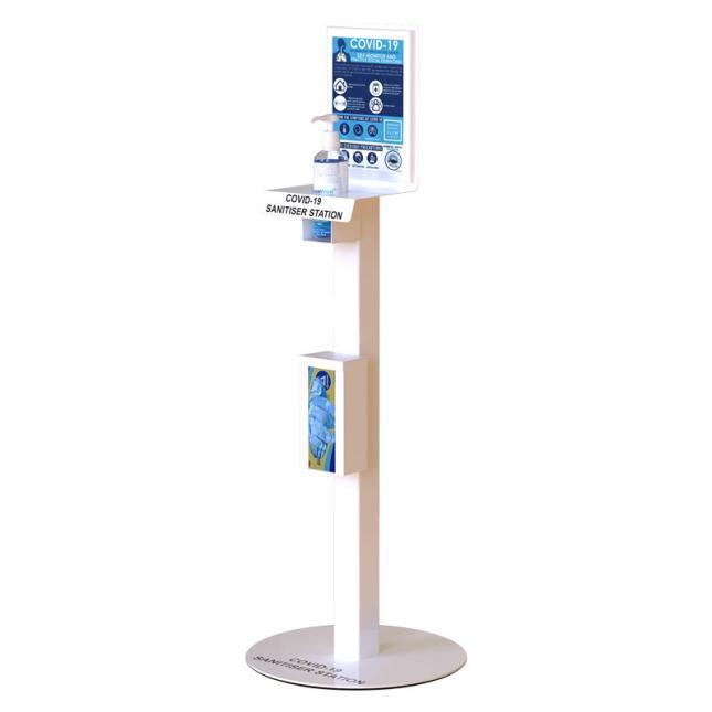Floor standing hand sanitiser stations