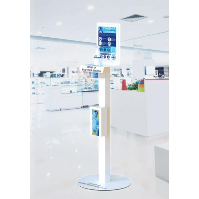 Sanitiser station for retail shops