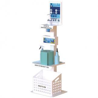 Premium floor standing sanitiser station