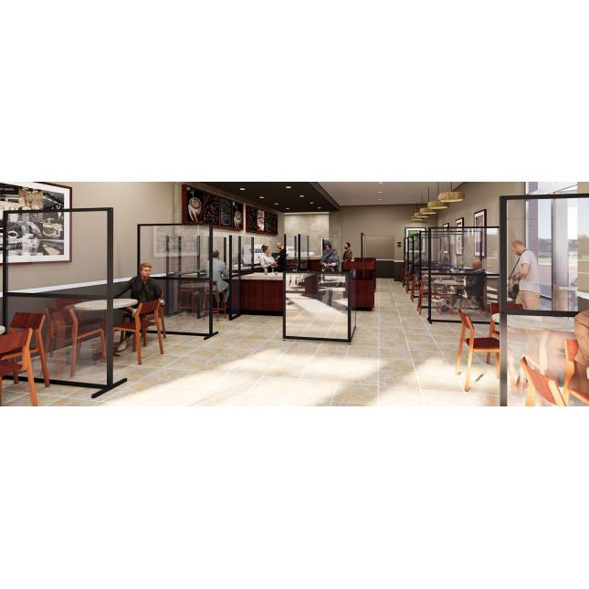 Floor standing screens for restaurants