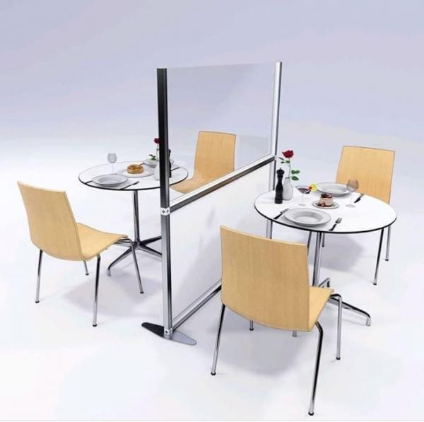 Screens for separating tables in cafes, coffee shops and restaurants