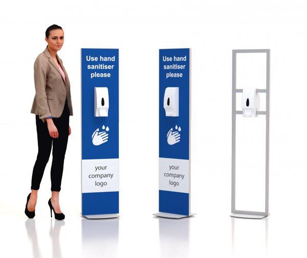 Floor standing sanitiser stand