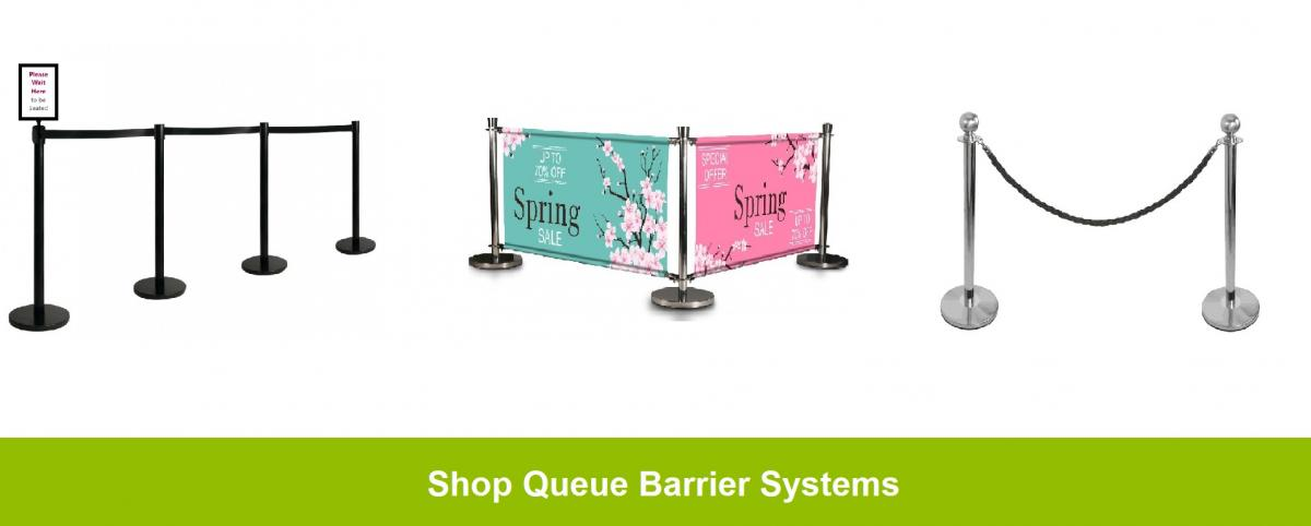 Queue barrier systems