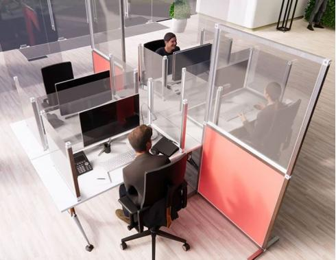 Office desk partitions and screens