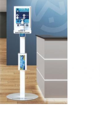 Floor standing sanitiser station