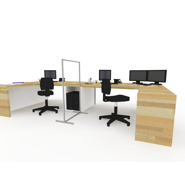 Partition screen for use in offices