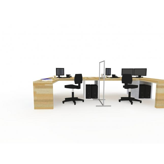 Social distancing partition screen for use in offices