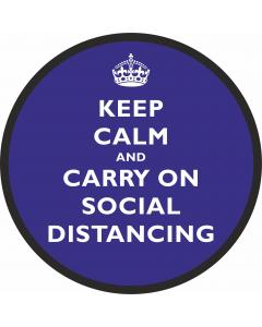 Floor Stickers for Social Distancing - Blue Keep Calm