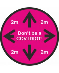 Floor Stickers for Social Distancing - COV-IDIOT