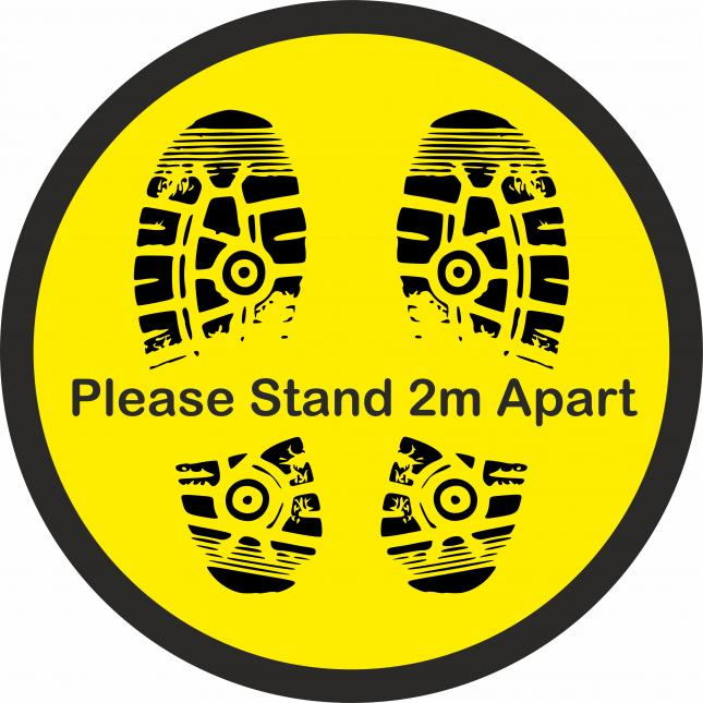 Please stand 2m apart social distancing floor stickers