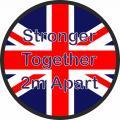 Social distancing floor sticker Union Jack
