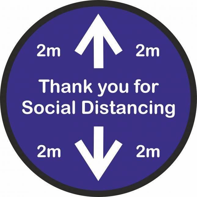 Thank you for social distancing floor sticker
