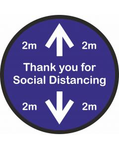 Floor Stickers for Social Distancing - Thankyou