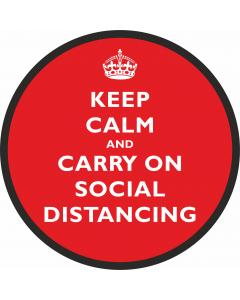 Floor Stickers for Social Distancing - Keep Calm in Red