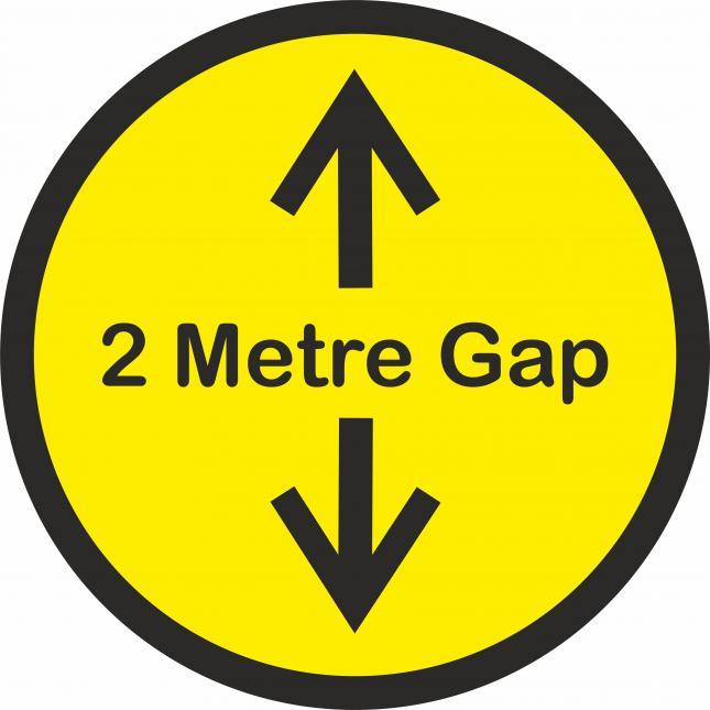 2m Gap social distancing floor stickers