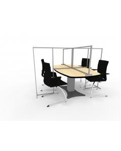 Screen for Meeting Table with Extensions