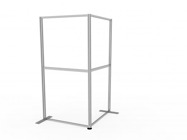 Two sided floor standing screen