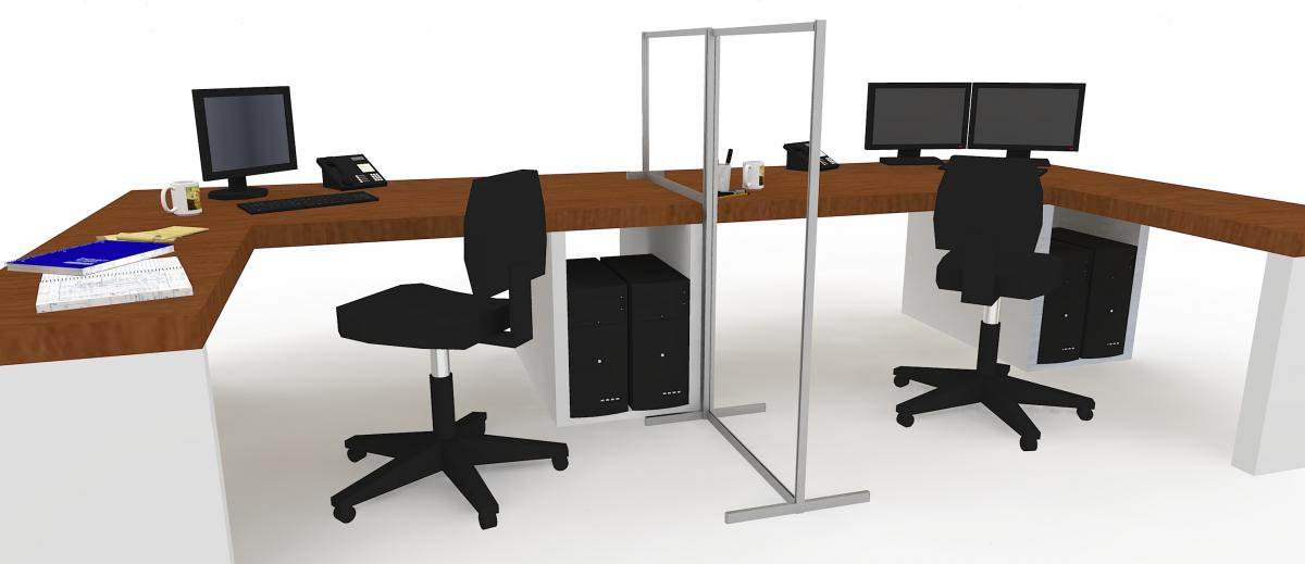 Social distancing screens for office desks
