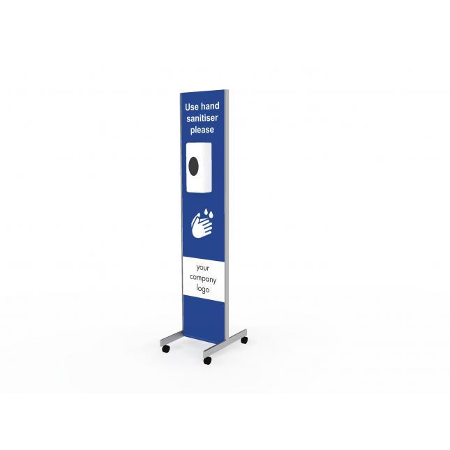Wheeled sanitiser station single width
