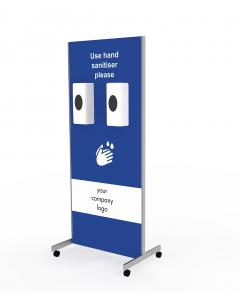 Wheeled Sanitiser Station Double Dispenser