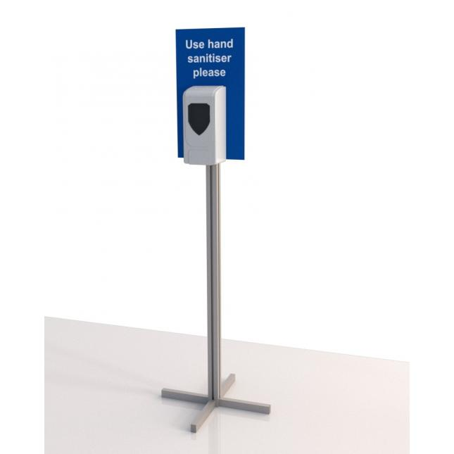 Simple Automatic Sanitiser Stand with Sign