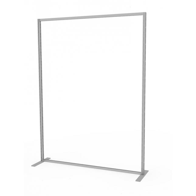1.5m wide social distancing screen floor standing