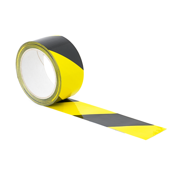 Yellow and black floor tape 33m