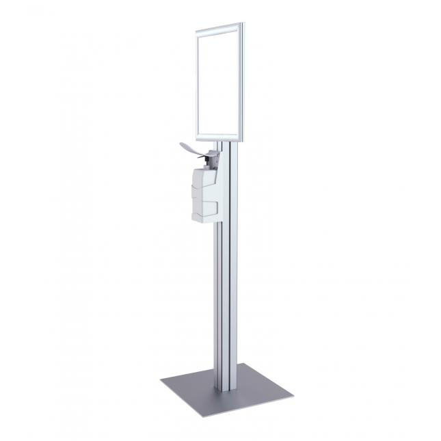 Sterimax sanitiser stand with A3 poster snap frame