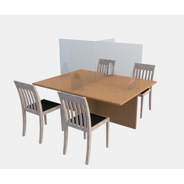 Table social distancing screen for hospitality