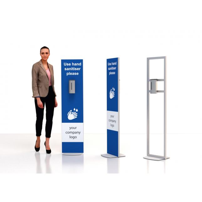 Non touch floor standing sanitiser stand