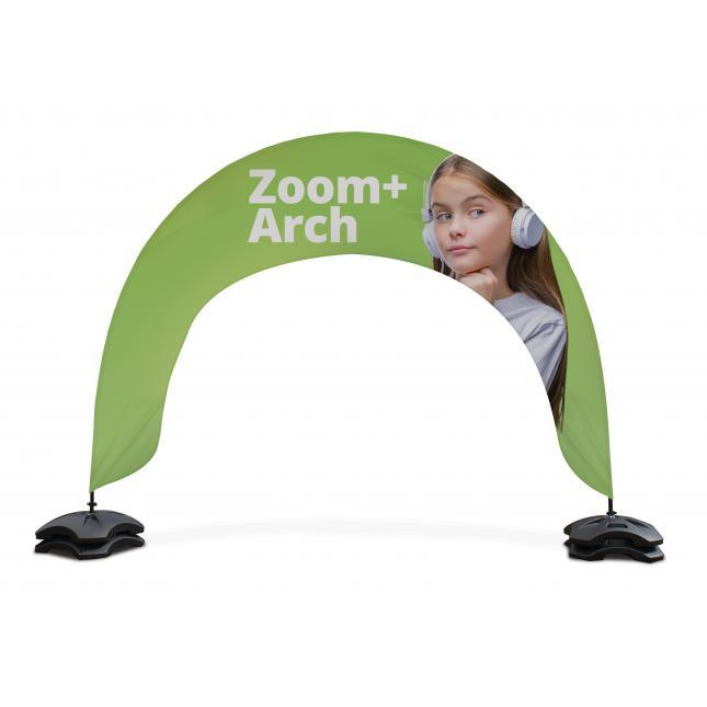 Custom printed flag arch