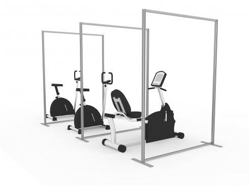 Floor standing acrylic screen for social distancing