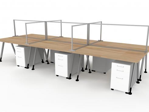 Off Desk Screens for Social Distancing