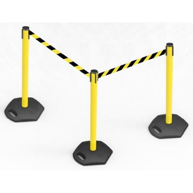 Queue management outdoor belt barrier system