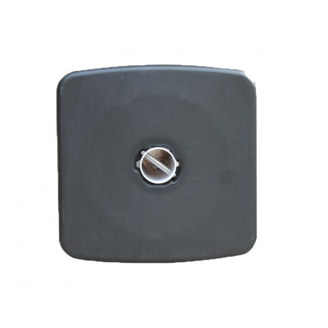 Black rubber base for post and chain barrier set