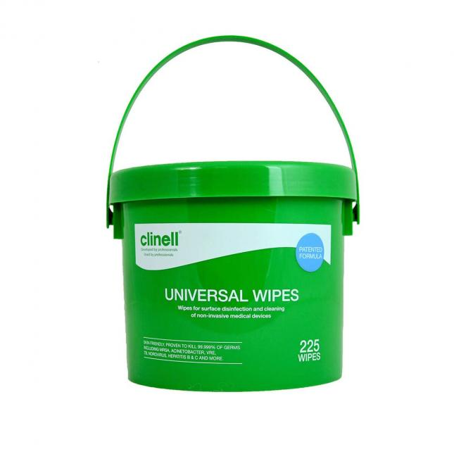 Clinell universal wipes bucket 225
