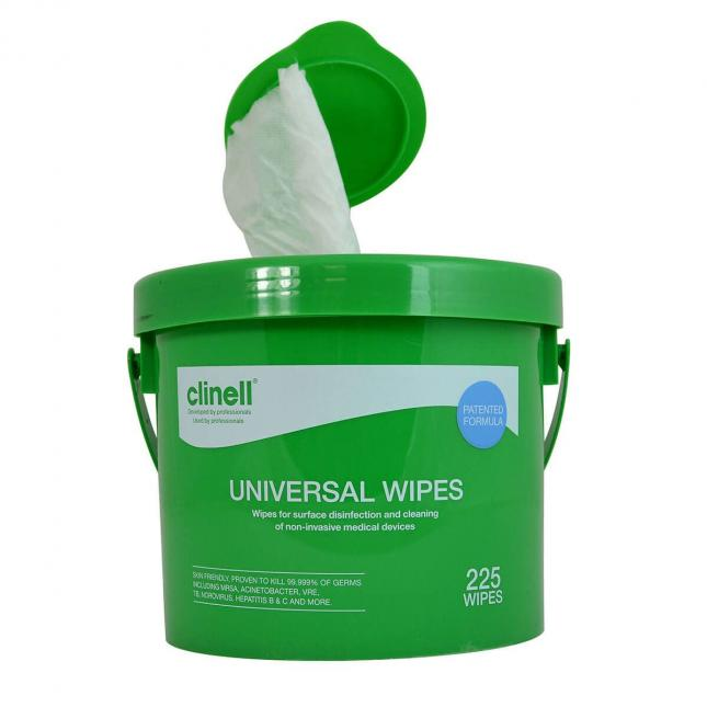 Clinell cleaning wipe bucket