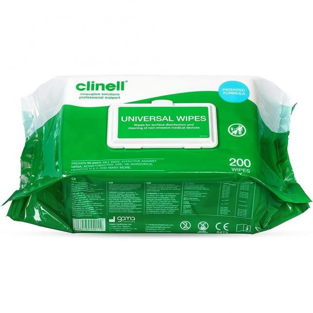 Pack 200 Clinell Universal Wipes