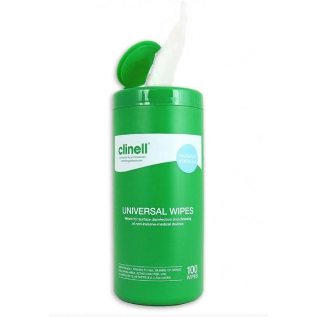 Tub 100 Clinell Universal Wipes