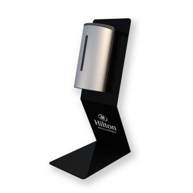 Branded-black-premium-sanitiser-stand