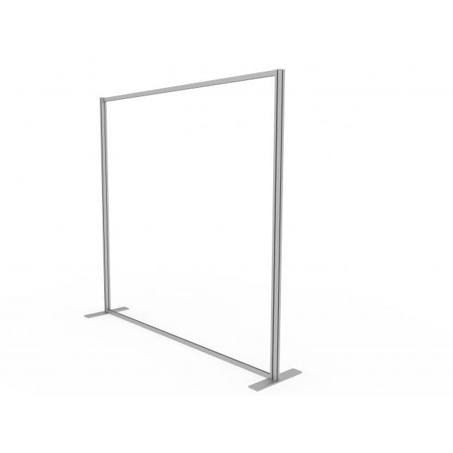 2 metre acrylic floor standing screen