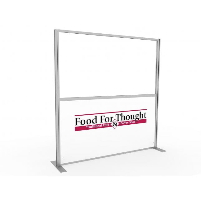 Branded acrylic screen